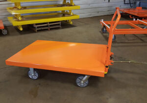 Flatbed Cart - 4 Wheel Static Trolley Cart