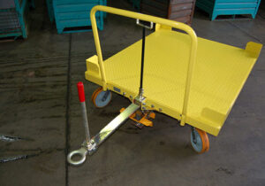 Flatbed Cart with Tugger Tow Bar