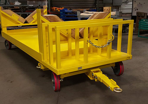 Large Yellow Quad Steer with Wood