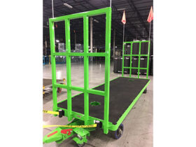 50x150 Quad Steer Carts with Foot Brake