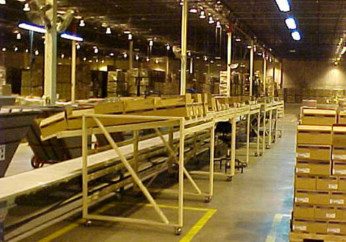 LineFlow™ Racks in use on factory floor